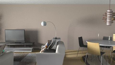 Mia og Juns leilighet 2 - Modern - Living room - by Ya_Lu