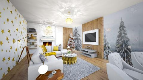 Warm Winter Wonderland - Living room - by Nikki Lipstick