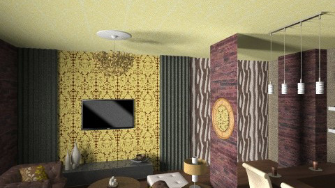 Chocolate Room2 - Living room - by nesta