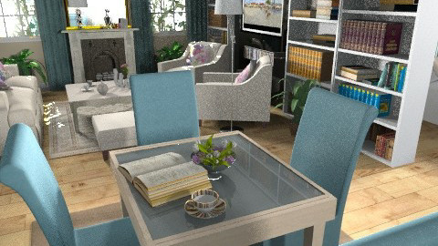 Tiny Apartment - Eclectic - Living room - by Theadora