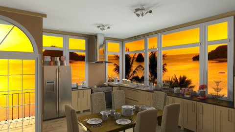 warm kitchen - Classic - Kitchen - by GALE88