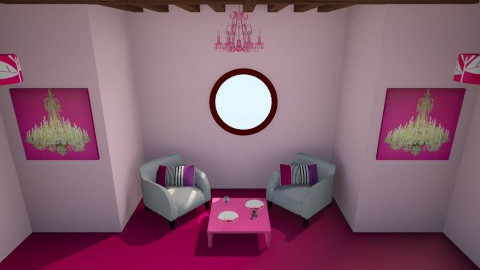 Pretty in pink - Living room - by pie2296