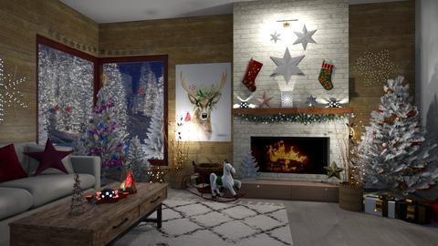 Christmas Stars - Living room - by  krc60