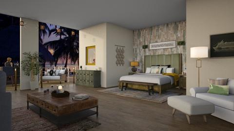 Resort Getaway - Bedroom - by Molly Taylor