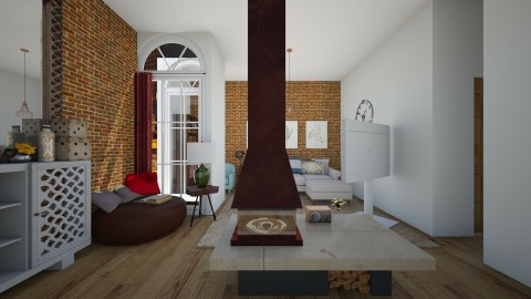 amber light - Living room - by clarisa