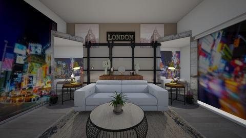 london veiw - Living room - by cuddelbear