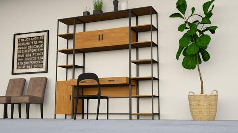 Study - Modern - Office - by XiraFizade