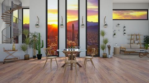 Desert Sunset Dining - Country - Dining room - by jammuek