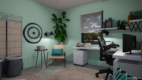 office in new house - Office - by chania