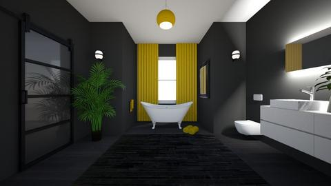 Yellow bathroom - Bathroom - by D_Vivien