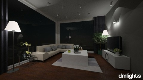 dm night - Living room - by DMLights-user-1229397