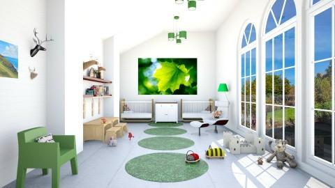 Leafy Twins Bedroom - Modern - Kids room - by IdaJo