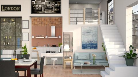One Room Apartment 4 - Living room - by Sally Simpson
