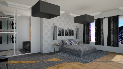 Black dream - Bedroom - by ines_sokol