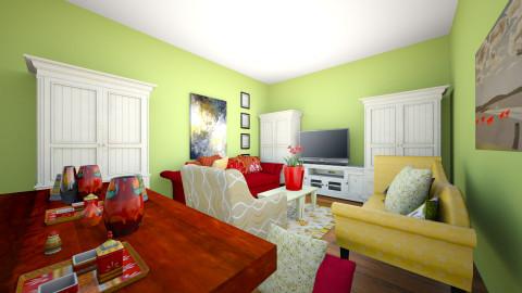 mama and papa - Vintage - Living room - by Makayla Bagasao