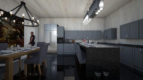 house 3 - Kitchen - by guyciara87