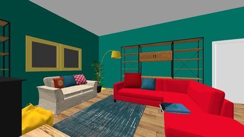 Veras yellow deet - Living room - by Orange Blossom Interiors