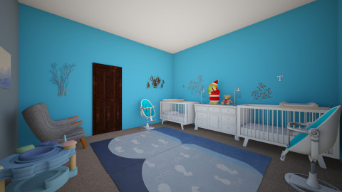 Baby twins room - Kids room - by ery123