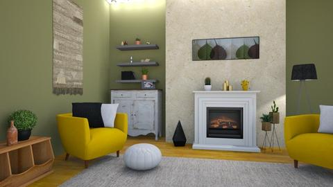 yellow - Living room - by VEmese