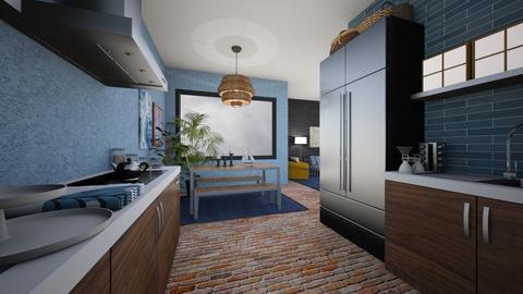 Nautical Kitchen - Kitchen - by amyskouson