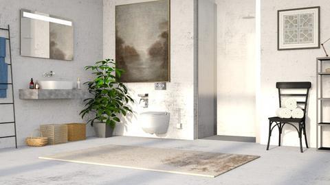 Concrete Bathroom - Bathroom - by millerfam