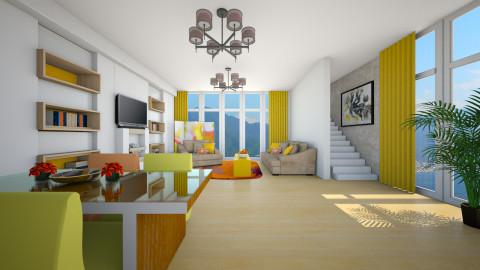 orange - Living room - by Elvira  Elvira