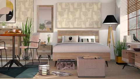 Mid Century Bedroom - Modern - Bedroom - by Sally Simpson