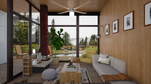 Modern Lake House - Modern - Living room - by dannydevito