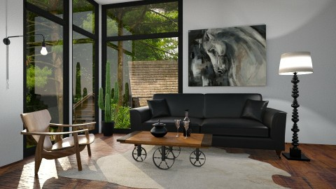 Village Horse - Living room - by Naavarin