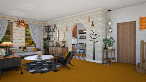 Orange carpet - Living room - by Nicky West