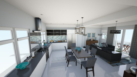 2nd floor kitchen dining - Dining room - by chloedaniella