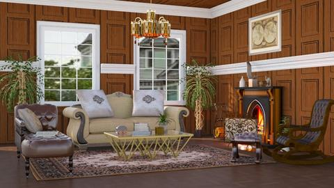 Brown Victorian - Living room - by millerfam