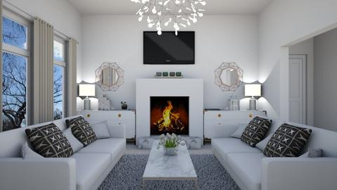 Living Room White - Living room - by josielz
