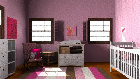 Pretty Pink - Glamour - Kids room - by 89dudes
