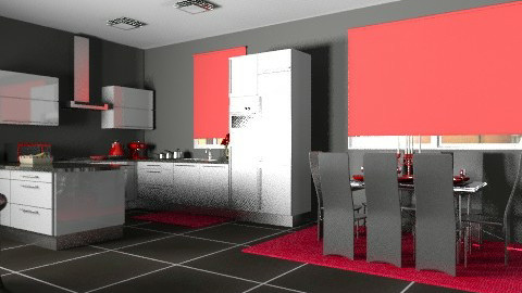 Kitchen1redview1 - Modern - Kitchen - by yvonne400cc
