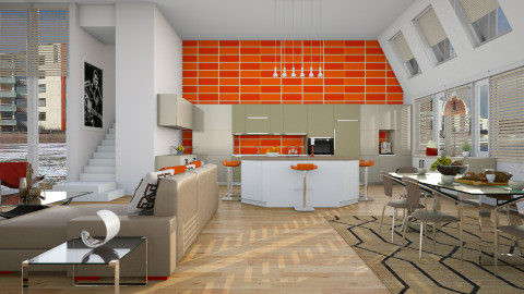 Family Room - Modern - Kitchen - by janip