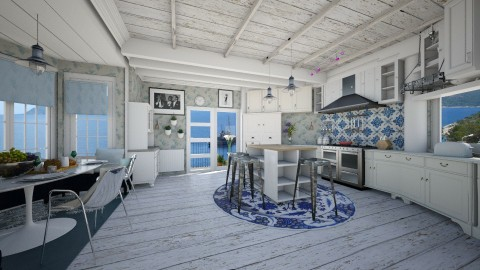 blue kitchen - Country - Kitchen - by sometimes i am here