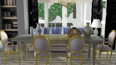 BLUE ELECTRIC3 - Dining Room - by naki1