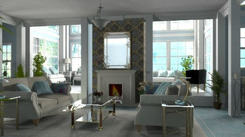 Blue Living - Classic - Living room - by Bibiche