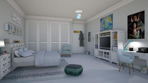 Fred - Retro - Bedroom - by Elenny