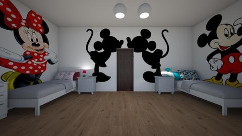 Minnie and Mickey - Kids room - by Denisa250