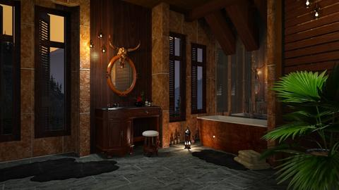 Dark Wood Bathroom II - Rustic - Bathroom - by Twilight Tiger