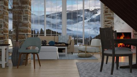 Alpine Winter - Rustic - Living room - by millerfam