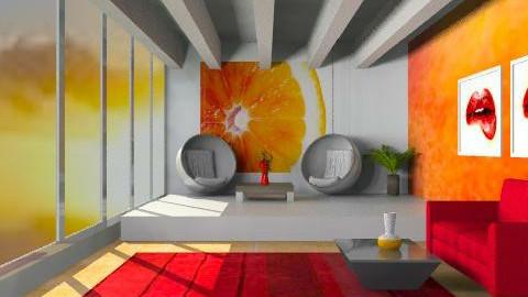 red orange bliss - Modern - Living room - by wonderwave