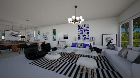 white charm - Living room - by flacazarataca_1