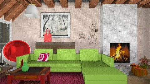Red And Green - Country - Living room - by Ana Juntez