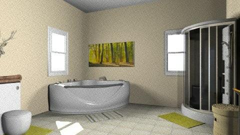 Tan and Green Bathroom - Rustic - Bathroom - by jessicalove