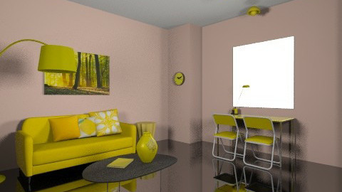 black and yellow - Living room - by dimitrafounda