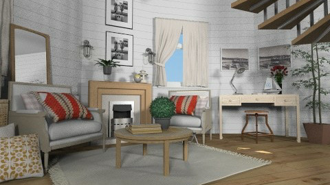 Lighthouse - Rustic - Living room - by Baustin