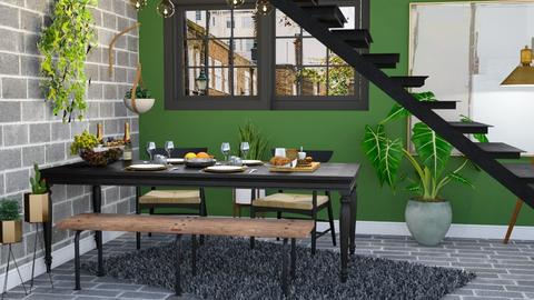 Green and Grey - Dining room - by millerfam